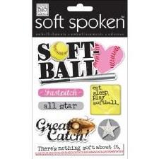 MAMBI Soft Spoken Stickers- Softball- Fast Pitch Softball