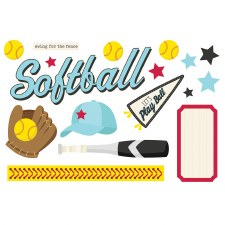 Simple Pages: Page Pieces Die Cuts- Softball