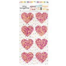 Amy Tangerine Slice of Life Stickers- Glitter Hearts