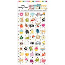 Amy Tangerine Slice of Life Stickers- Mini Puffy