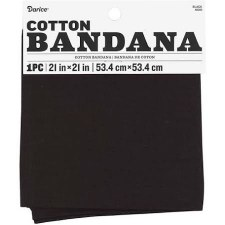 "Cotton Bandana 21""x21""- Solid Black"