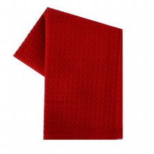 """Waffle Weave 20""""x28"""" Tea Towel- Bright Red"""