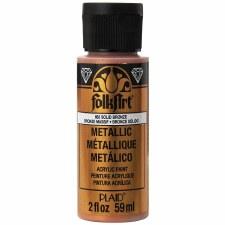 FolkArt 2 Oz. Metallic Acrylic Paint- Solid Bronze