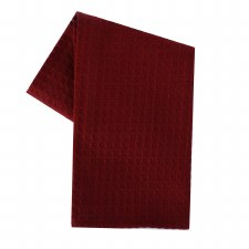 "Waffle Weave 20""x28"" Tea Towel- Cranberry"