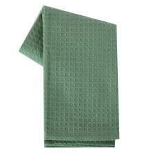 "Waffle Weave 20""x28"" Tea Towel- Light Green"