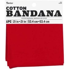 "Cotton Bandana 21""x21""- Solid Red"