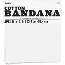 "Cotton Bandana 21""x21""- Solid White"