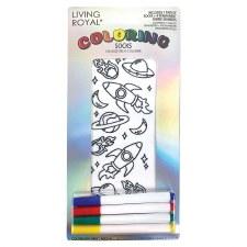 Coloring Socks- Space Adventure