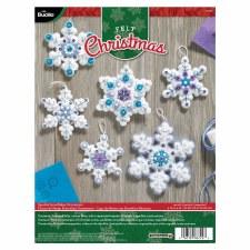 Bucilla Felt Ornament Kit- Sparkle Snowflakes