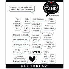 Say It in Stamps Speech Bubble Sentiments Stamp Set