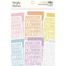 Color Vibe Alphabet Sticker Book- Spring
