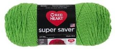 Red Heart Super Saver Yarn- Spring Green