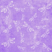 Dragonfly 12x12 Paper- Purple