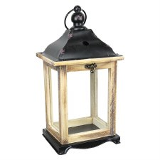 "12"" Lantern- Distressed Wood"