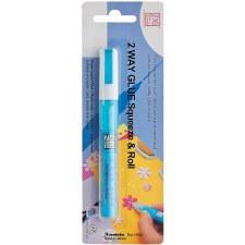 Zig 2 Way Glue Pen- Fine Tip Squeeze & Roll