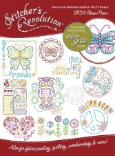 Stitcher's Revolution Embroidery Transfer Pattern- Flower Power