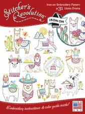 Stitcher's Revolution Embroidery Transfer Pattern - Llama Drama
