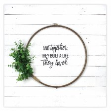 Farmhouse Hoop Sign Kit