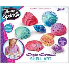 Cra-Z-Art Shimmer & Sparkle Craft Kit- Magic Mermaid Shell Art