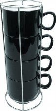 Disc Stacking Cups Black W/Rac