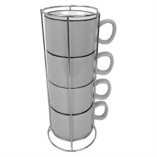 Stacking Cups w/ Rack- Grey
