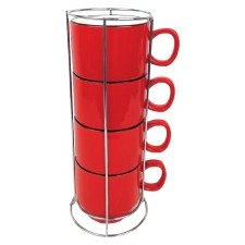 Stacking Cups w/ Rack- Red