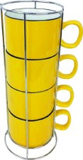 Stacking Cups w/ Rack- Yellow