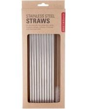 Stainless Steel Straws, 10pk