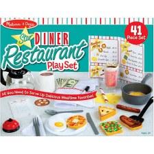 Melissa & Doug Food/Kitchen Play Set- Star Diner Restruant