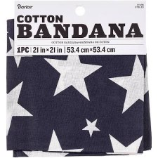 "Cotton Bandana 21""x21""- Stars"