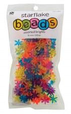 Nicole Starflake Beads, 200ct- Bright Assortment
