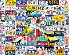 State Plates - 550 Piece Puzzle