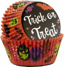 Halloween Baking Cups, Standard- Trick or Treat 75ct