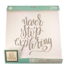 "Mix the Media Stencil Pack, 26ct- 12""x12"" Phrases"