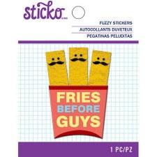 Sticko Fuzzy Sticker- Mustache Fries