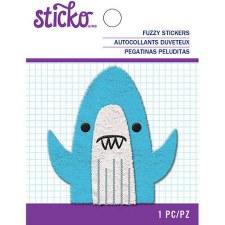 Sticko Fuzzy Sticker- Shark