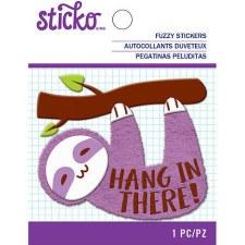 Sticko Fuzzy Sticker- Sloth