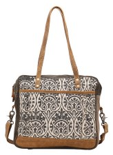 Myra Messenger Bag- Stipple Print