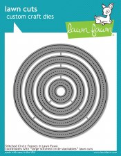 Lawn Fawn Stackable Circle Craft Dies- Stitched Frames
