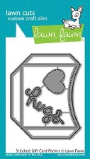 Lawn Fawn Craft Dies- Stitched Gift Card Pocket