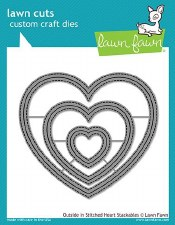 Lawn Fawn Stackable Hearts Craft Dies- Outside In