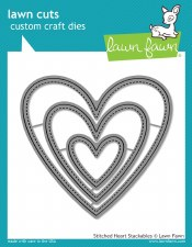 Lawn Fawn Stackable Hearts Craft Dies