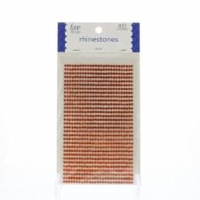 Rhinestone Stickers, 3mm- Orange