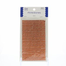 Rhinestone Stickers, 4mm- Orange