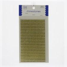 Rhinestone Stickers, 4mm- Yellow