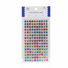 Rhinestone Stickers, 8mm- Multicolored
