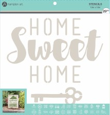 "Mix the Media Stencil Pack, 26ct- 12""x12"" Home Phrases"