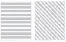 We R Memory Keepers Revolution Embossing Folders, 2pk- Stripes