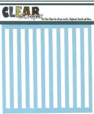 Clear Scraps 12x12 Stencil- Stripes