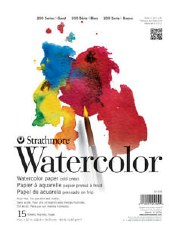 "Strathmore 200 Series 9""x12"" Watercolor Pad, 15 Sheets"